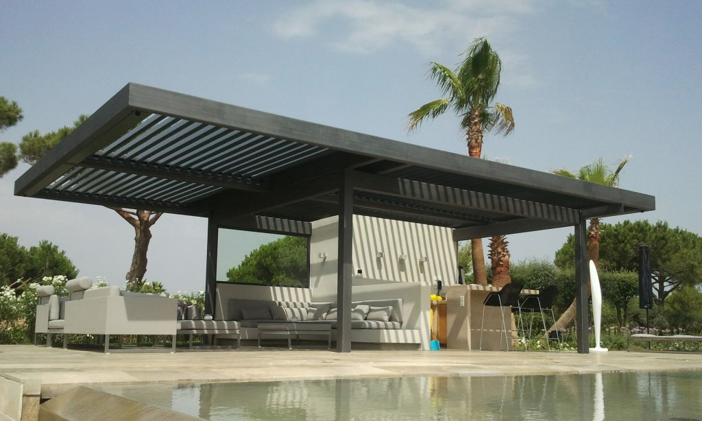Bioclimatic Pergola by Swimming Pool