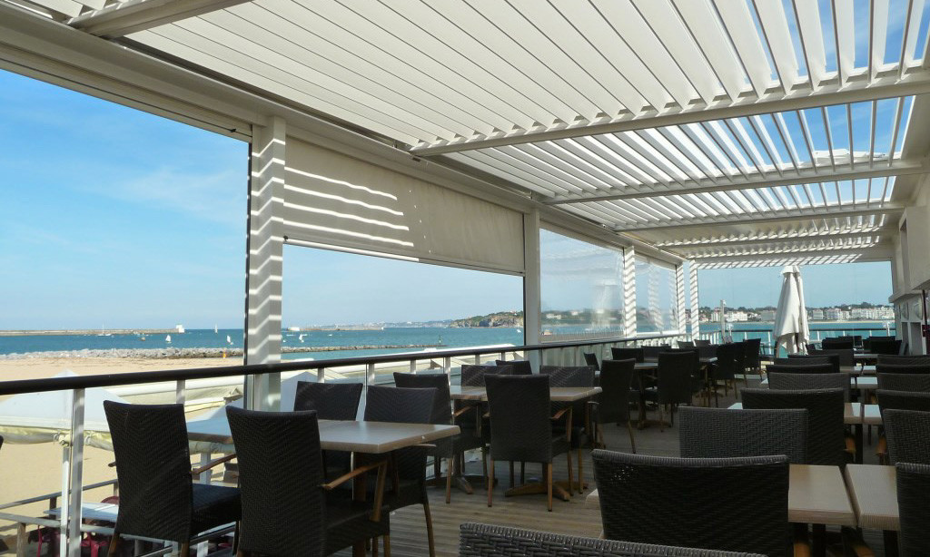Hotel Terrace with Bioclimatic Pergola